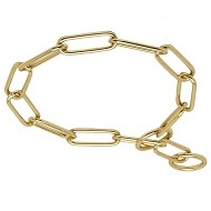 "Collare in ottone ""Chain Trainer"" per Labrador Retriever, 4 mm"